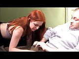 Horny redhead wildly fucks and sucks big cock