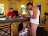 Step dad cums inside associate playfellows daughter