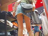 Upskirt In The Supermarket All With Thong
