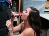 Brunette thief fucks officer for her way out