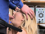 Adira taking Mikes cock in his office