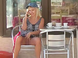 Flashing and masturbation in a public cafe