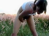 Girl Outdoor Masturbation
