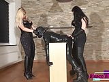 Dominatrix Dinah and Mistress Kelly Kalashnik - Pegging