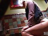 Bathroom hidden camera - hot blonde on the toilet