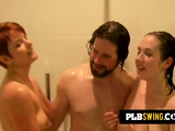 Join this naughty swinger threesome