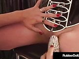 Mother Of Latex RubberDoll Dildo Drills Her Clone Molly!
