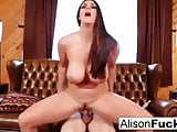 Statuesque Alison Tyler takes on a big french dong