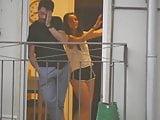 Cute brunette girl with her boyfriend