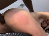 Sexy ebony babe gets her nice ass fucked