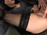 Naked chicks are working eachothers pussy in softcore
