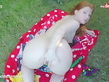 MyDirtyHobby - Kinky babe Little Nicky training her asshole until orgasm