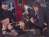 Euro slave in lingerie public fucked