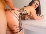 MILF DoggyStyle Anal and Blowjob Facial - Cristall Gloss