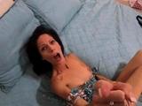 Hot german girl gives great handjob