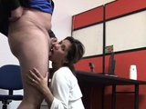 Lucky chap gets a pretty asian babe in his throbbing wang