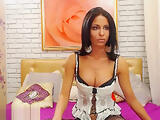 Jasminwow brunette takes off her black stockings