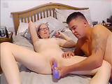 mom joins stepson first live chat video for a laugh and cums in her mouth