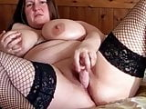 Home alone Chunky housemate trying out her new Mr Real dildo