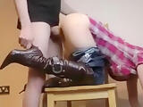 Geeky Teen Fucked On Chair And Gets A Cream Pie