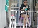 Teen neighbor on the balcony XI