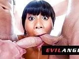 EvilAngel - Jenna Foxx Sloppily Face Fucked By 2 White Dicks