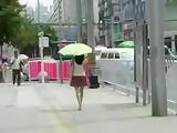 Chinese public market upskirt