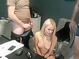 hot body blonde fucked by 2 cocks