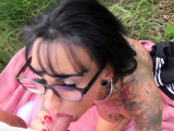 german big tits tattoo milf public pick up outdoor pov