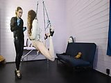 Mistress Priest tortures her bondaged slave with electro