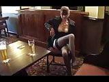 Aunt flashing in bar
