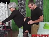 Young pervert fuck her Granny so hard