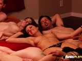 The red room gets crowded with new horny