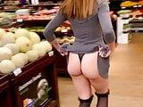 Flashing big butt