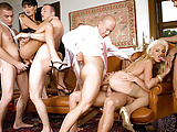 Two Horny MILFs Get All Their Holes Filled in a DP Gangbang