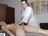 Fake massage redhead girl