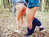 Outdoor Public Forest Fuck, Almost Caught!