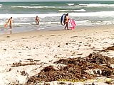 3 Nude Friends Come Back from the Ocean at Playalinda Beach