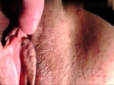 Sexy hot cutie fingering her pussy close up