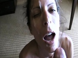 Hot brunette gf amateur blowjob and facial