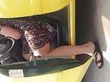 PEEPING AT THE GAS PUMP