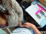 Cute young redhead Liona Levi cums from huge beef bayonet