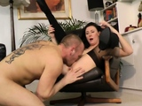 UK mature in stockings gives bj before banged