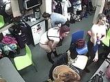Hidden camera in strippers dressing room