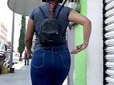 Big Ass Walking . Latina Jeans 1