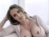 Lonely cougar shows jugs