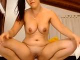 slut shoving huge rubber Dick in the ass