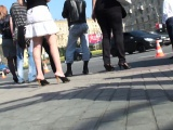 Spy cam catches a couple of nice butts walking on the stree