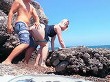 Risky Public Flashing & Wild Sex on the Beach