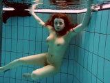 Hot hairy Vesta underwater